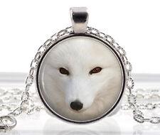 Artic Polar Fox Collar Colgante-Imagen Joyas Blanco Animal Regalos Para Mujeres