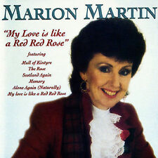 MARION MARTIN My Love Is Like A Red Red Rose CD BRAND NEW
