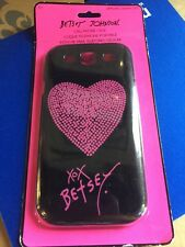 NIP Betsey Johnson Black with Pink HeartPhone Cover ~  Samsung Galaxy S3