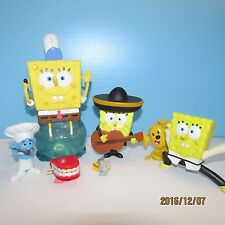 6Pcs Set Sponge Bob Square pants PVC Figures Cute Toys Bubblebath