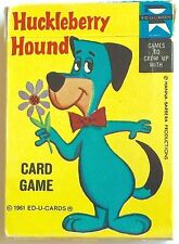 """VINTAGE 1961 HUCKLEBERRY HOUND """"ED-U"""" PLAYING CARDS ~ HANNA BARBERA PRODUCTIONS"""