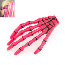 1PCS Rose Gothic Skull Skeleton Hand Punk Halloween Zombie Party Hair Clip Pin