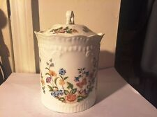"""Aynsley 7 1/2"""" Biscuit Barrel & Lid """"Cottage Garden"""" Perfect  Bone China English"""