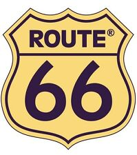 Framed Print - Icon Historic Route 66 Sign in Dirty Yellow (Picture Poster Art)