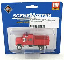 HO Scale International 4900 Fire Department Utility Truck - Walthers #949-11892