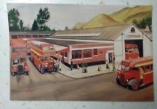 Post Card of Keswick Bus Station showing Cumberland Motor Services Buses