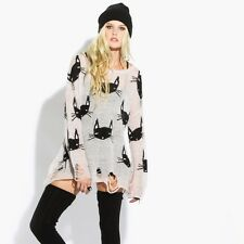 wildfox White Label Cats Lennon Sweater Knit