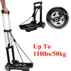 110 lbs 50kg Aluminium Cart Folding Dolly Truck Hand Collapsible Trolley Luggage