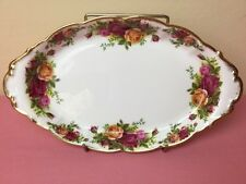 Royal Albert Old Country Roses Oval Condiment Tray Early Stamp 1st Mint