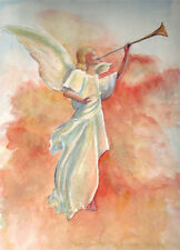 Angel 8 X 10 inch original watercolor painting
