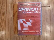 Instant Recall Spanish Vocabulary by Michael Gruneberg, Ph.D. (2 disc / 2002)