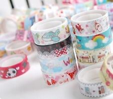 Bulk 1.5cm*3 Meter Paper Sticky Adhesive Sticker Decorative Washi Tape For DIY
