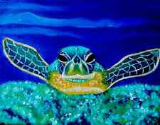 Original oil painting of Baby Sea turtle.