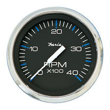 "Faria Chesapeake Black SS 4"""" Tachometer - 4,000 RPM (Diesel - Mechanical Takeof"