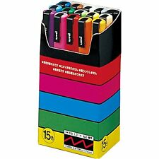 NEW Uni Posca Marker Thin 15 Colors Set PC-3M 15C Import Japan F/S