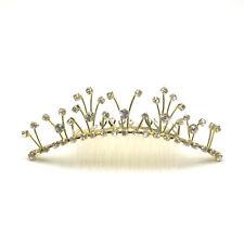 Tiara Combs Ladies Crystal Crown Diamante Head Piece Hair Fashion Accessories