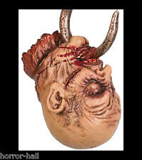 Life Size Severed Bloody HOOKED ZOMBIE HEAD Horror Prop Haunted House Decoration