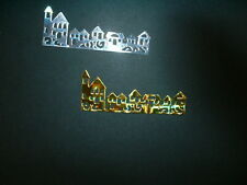 10 x gold and silver row of houses die cuts