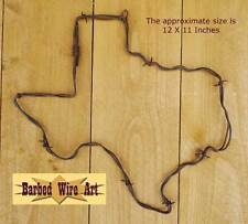 Texas - handmade horse equine rodeo barbed wire art western decor wall