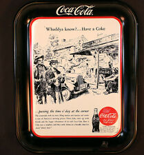 Coca-Cola Tray Reproduction 1993 Authorized Old Advertisements Frank Godwin Artw