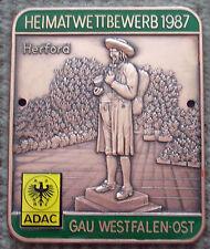 ADAC Plakette Heimat Wettbewerb 1987 Westfalen Ost Bielefeld Lippe Herford Bünde