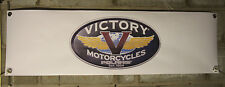 victory motorcycle    large pvc  garage work shop banner man cave show banner