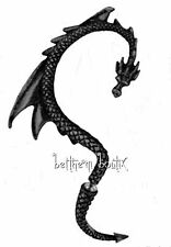 Goth : Alchemy Boucle d' Oreille Unique Noir Dragon Lure Black Single Gothique