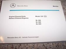 1995 Mercedes Benz SL320 SL500 SL600 320 500 600 SL Chassis Parts Catalog Manual