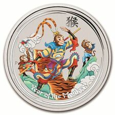 2016 10 oz Colored Silver Lunar Monkey King Coin (VERY-RARE)