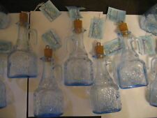 olive oil vinegar salad dressing bottle blue tinted glass jar dispenser job lot