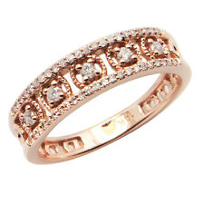 FINE 14K ROSE GOLD VINTAGE STYLE MILGRAIN FILIGREE WEDDING BAND RIGHT HAND RING