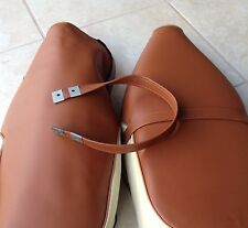 Honda C70 Seat Cover Brown BlackPainted Logo