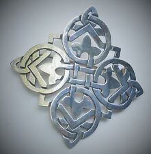 """Taxco Mexico Victoria Cony 2 3/8"""" Sterling Silver Celtic Knot Style Cross Brooch"""