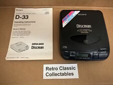 Sony Discman D-33 - Portable CD Player - Serial No. 839893 - FREE U.K. POSTAGE