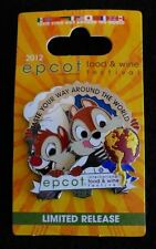 Disney WDW Epcot International Food and Wine Festival Chip and Dale Pin 2012 NEW
