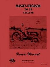 Massey Ferguson TO 35 TO35 Tractor Owners Operators Manual MF