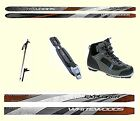 EASY TO SKI  WAXLESS CROSS COUNTRY SKIS PKG WITH BOOTS POLES BINDINGS