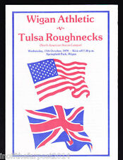 1979/80 WIGAN ATHLETIC V TULSA ROUGHNECKS 17-10-1979 Friendly Match