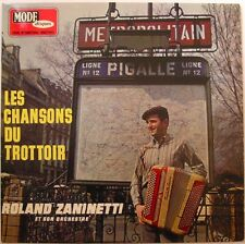 ROLAND ZANINETTI  (LP 33 Tours) LES CHANSONS DU TROTTOIR  ACCORDEON