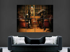 ALIEN VS PREDATOR CHESS LIBRARY  ART WALL LARGE IMAGE GIANT POSTER