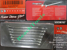 New Snap On 12 Pts Metric Combination Flank Drive Wrench Set 7 Pcs SOEXM707