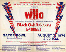 THE WHO REPRO 1976 JACKSONVILLE FLORIDA GATOR BOWL CONCERT POSTER . NOT CD DVD