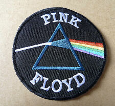 "PINK FLOYD Dark Side of the Moon Emboidered Cloth Logo Patch 3""x3"""