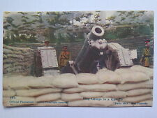 WORLD WAR I POSTCARD DAILY MAIL OFFICIAL PHOTO KING GEORGE IN a GUN PIT No 119