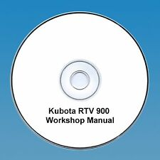 KUBOTA RTV 900 UTV UTILITY VECHICLE WORKSHOP MANUAL PDF CD