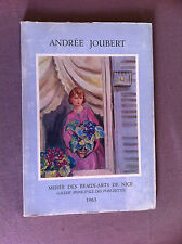 ANDREE JOUBERT (1894-1959). Musée des Beaux-Arts de Nice, Galerie Municipale