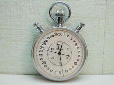 Vintage cal.5498 20j SLAVA Mechanical Stopwatch Chronometr USSR Soviet Russia