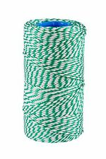 Green & White Butchers-Bakers-Craft-Rayon Twine/String 125g Approx 75m