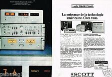 Publicité advertising 1977 (2 pages) La Chaine Hi-Fi Scott
