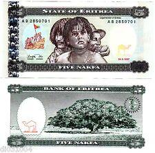 ERITREA ERYTHREE AFRIQUE Billet 5 NAKFA 1997 P2  3 VISAGES NEUF UNC